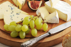 cheese plate with fig