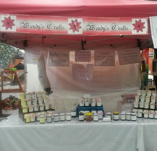 Display of Jam on Market Stall