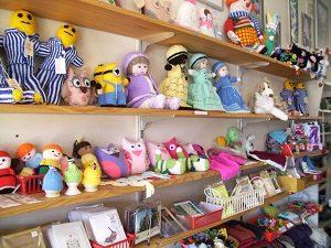 Stuffed toys and cards at Tarcutta