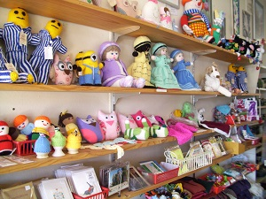 Stuffed toys and cards at Tarcutta
