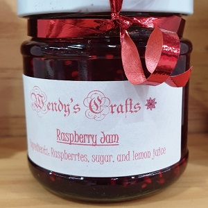 Raspberry jam made by Wendy's Crafts