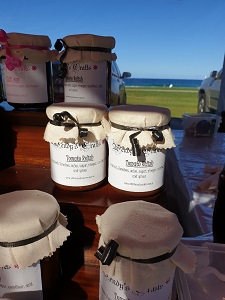 Wendy's Crafts jam Stall at Kiama Market