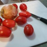 Ingredients ready for Making Tomato Relish