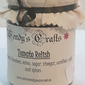 Jar of Homemade Tomato Relish