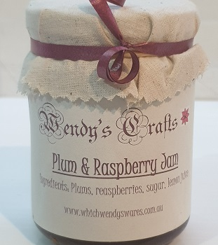Homemade Plum and raspberry Jam by Wendys Crafts
